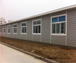 Precio del grano de madera Exterior Siding de fibrocemento de la luz de la junta de la casa de estructura de acero