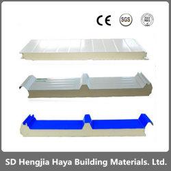 鉄骨構造のための50mm /75mm/100mmの屋根または壁の耐火性か絶縁されたEPS/Rock Wool/PU/Polyurethane/PIRの泡のボードサンドイッチパネルか研修会または低温貯蔵
