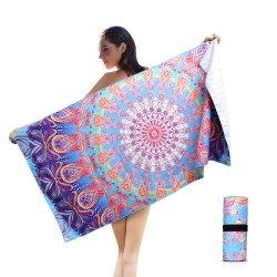 Marca personalizada Victoria Microfibra secreta do Arco-Íris listras de toalha de praia