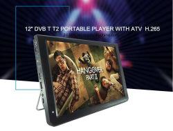 11.6 pouces LED numérique portable TV LCD avec ATSC/DVBT/DVBT2/ISDB-T et l'analogique pour la voiture, le camping ou en extérieur