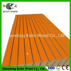 Ranhurado Melamined/capas de ripa de MDF da placa na parede com alta qualidade