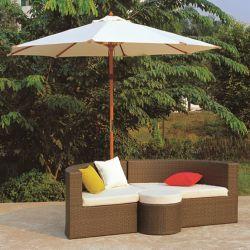 Les loisirs de plein air Paito de meubles en rotin canapé en osier pour la vente (TG-JW28)