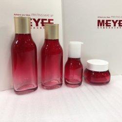 Граната красного стекла Botlle градиента цвета для ухода за кожей,