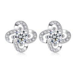 De kleine Ronde Juwelen van 925 Echte Zilveren Oorringen van de Nagel