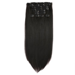 人間の毛髪の拡張のWeftedデラックスな二重クリップ