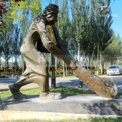 Menschliche Form-Bronzen-Patina-Statue-Skulptur gelegen im Garten