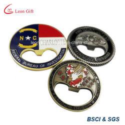 Fabrik-kundenspezifischer Münzen-Form-Flaschen-Öffner für Andenken-Geschenk