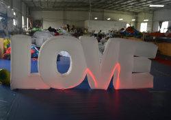 Brief van de Liefde van het huwelijk de Opblaasbare Lichte voor de Decoratie van de Dag van de Valentijnskaarten van het Huwelijk