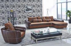 Parte superior em pele Pleather moderna Itália tecido camurça couro PU PVC Hotel Sofá Secional Anti Peste móveis domésticos