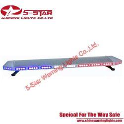 O LED âmbar da barra de luzes de aviso de emergência