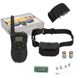100レベル300mの範囲電池のLCD表示が付いている電子ドッグカラーのリモート・コントロール反吠え声の衝撃のトレーニングカラー