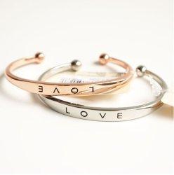 女性の方法女性の合金手の恋人の結婚式のブレスレットの腕輪の袖口のためのブレスレットの腕輪