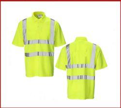 맞춤형 제작 하이 비즈 리플렉터 옐로우 워킹 폴로 셔츠 남성