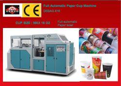 máquina de fabricación de vasos de papel automático de doble recubrimiento PE