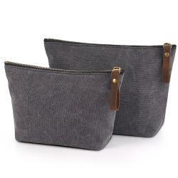Sacchetto cosmetico grigio alla moda di corsa della lavata del sacchetto di mano (FWB-013)