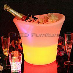 Discothèque meubles LED RGBW seau à glace Vin de qualité le godet