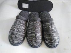 L'intérieur de la laine à tricoter Indoor pantoufles pour hommes