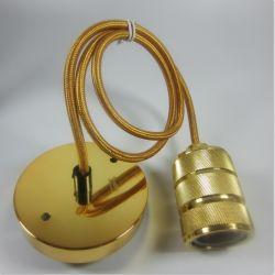 18 AWG pendente de fio tecido travando a lâmpada da luz de alimentação tecido Grip Fios e Cabos Elétricos