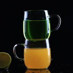 Taza vaso de zumo de vidrio blanco leche Vaso de cerveza Mug taza de jugo de Super hecha a mano.