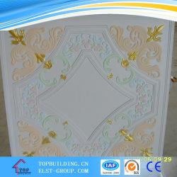 Coloridosazulejos de techo de yeso 595*595*9 mm.