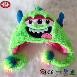 Plush trois yeux vert Comfortalbe Bébé doux Don Hat Toy