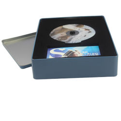 Metal personalizado Caixa de estanho para CD Embalagem de DVD
