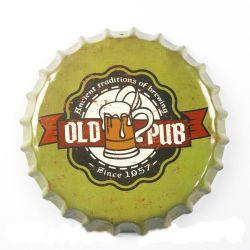Mejor Vintage de mayorista de impresión de los signos de estaño metal decoración Club Bottle Cap