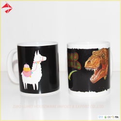 Kleur/Hitte die de Ceramische Mok van de Koffie met het Ontwerp van de Douane voor Bevordering veranderen