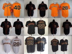 Hommes Femmes Enfants de la Ligue nationale de baseball Giants de San Francisco Jerseys