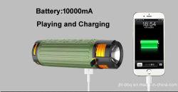 DC avec lampe de poche étanche chargeur mobile portable amplificateur haut-parleur Bluetooth Bluetooth