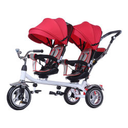 De TweelingWandelwagen Met drie wielen van uitstekende kwaliteit van de Baby