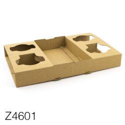 Z4601 quitarle el papel corrugado, café, Portavasos Portavasos de papel/cartón kraft duradera para llevar té lechoso