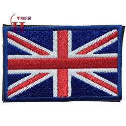 La bandierina su ordinazione del Regno Unito rattoppa il ricamo