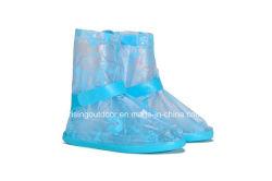 Les chaussures étanches imprimé bleu clair