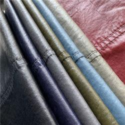 Новая конструкция потяните вверх эффект стирать одежду из кожи PU для мужской куртки