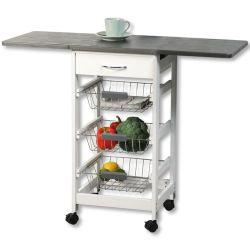 Karren-Küche-faltbare Speicher-Laufkatze-Karre der Küche-4-Tier mit Körben eines Fach-2