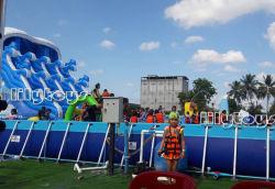 Über Bodenfamilien-Partei-ultra Rahmen-Pool-Set-Swimmingpool-Metallrahmen