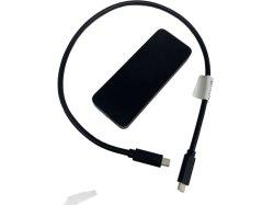 인텔은 Thunderbolt3 Nvme 울안, 안쪽으로 500GB Nvme SSD를 가진 알루미늄 벼락 3 울안을 증명했다