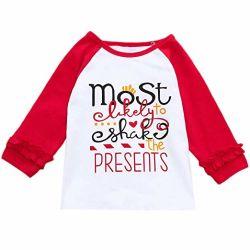 의복 상단 블라우스가 유아 아기 의류 착용 t-셔츠에 의하여 농담을 한다