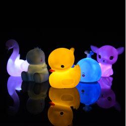 Light-up 고무 Duckies - Illuminating 색깔 변화 고무 오리