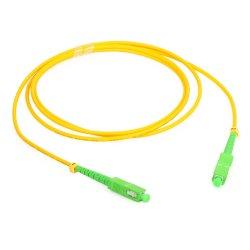 L'alta qualità Cina ha reso aSc-Sc basso di perdita di inserzione il PVC monomodale Ofnp Ofnr di simplex 2mm LSZH cavo di zona ottico giallo della fibra