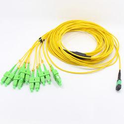 Zona ottica monomodale della fibra di sblocco MPO-Sc LSZH di memoria della clip 12