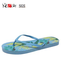 El PVC estilo simple y elegante hermoso Tanga Toe zapatilla tientos de goma