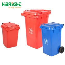 Rodas coloridas PE um supermercado grande capacidade cesto do lixo
