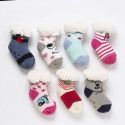 El bebé caliente en invierno calcetines de algodón grueso Terry Calcetines Unisex para bebé niño 0-3 años