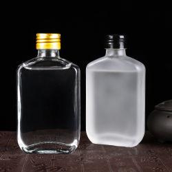 Bottiglia di vetro della boccetta 100ml del vino del whisky della bottiglia di vetro del liquore di Brew del caffè dell'acqua della spremuta fredda Hip piana vuota del latte con la protezione inalterabile