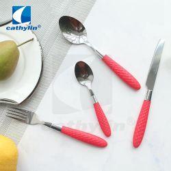 저렴한 가격의 플라스틱 핸들 레스토랑용 스테인리스 스틸 플랫웨어