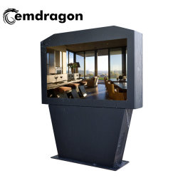 A nova moldura fotográfica digital 65 polegadas tela horizontal do ar condicionado máquina de publicidade exterior do piso Multi-Slot Moldura Fotográfica Digital Digital Signage piso