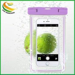 étui pour téléphone mobile universel étanche claire Natation Package Poche pour téléphone cellulaire en PVC avec lanière de cou le commerce de gros 458