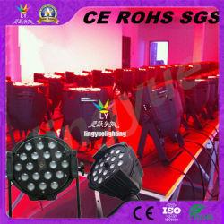 18pcs 18W RGBWA + UV stade intérieur par LED Témoin CAN